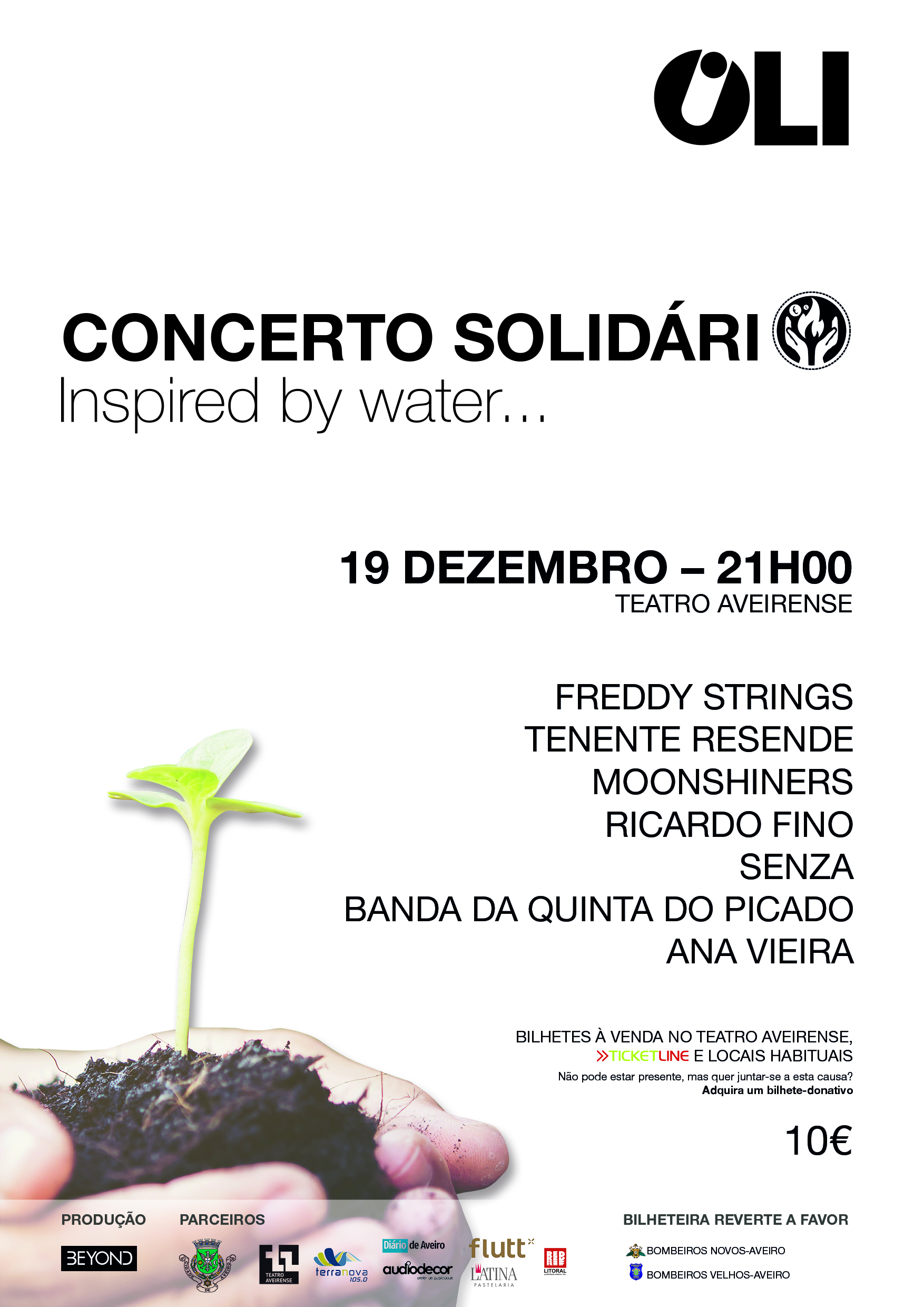 CONCERTO SOLIDÁRIO INSPIRED BY WATER - BILHETES